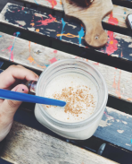 Coffee Club Montpellier Banana peanut butter smoothie