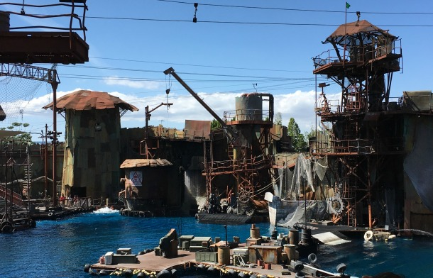 Water world show Universal Studio