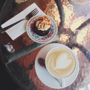 Latte Mary Cherry Cupcakes