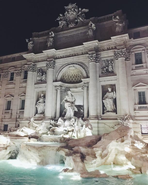 Rome, fontaine de trévise, week end à Rome