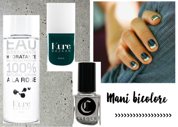 Manicure facile, manicure bicolore, nail art,