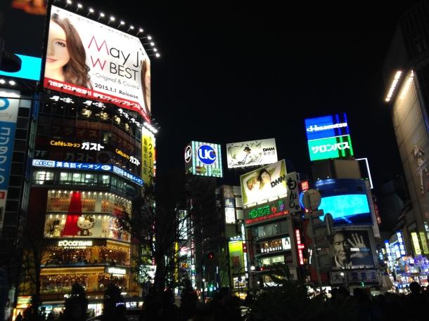 Shibuya nuit Tokyo