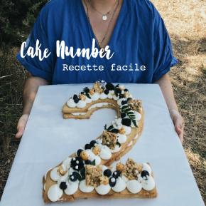 Cake Number la recettefacile